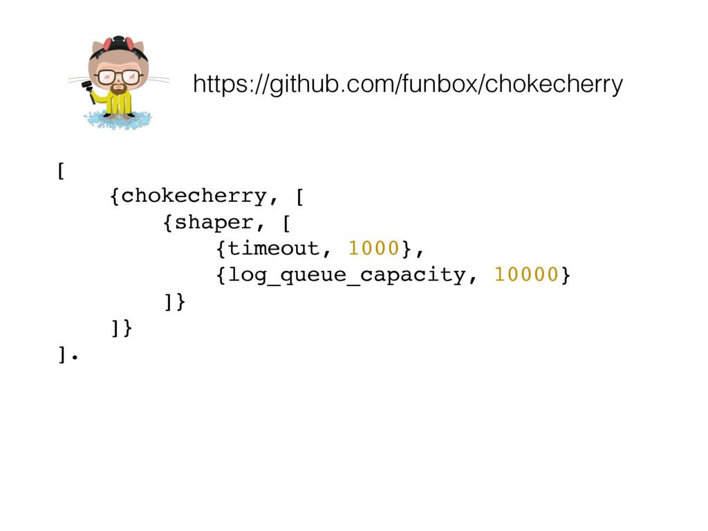 https://github.com/funbox/chokecherry [ {chokec...