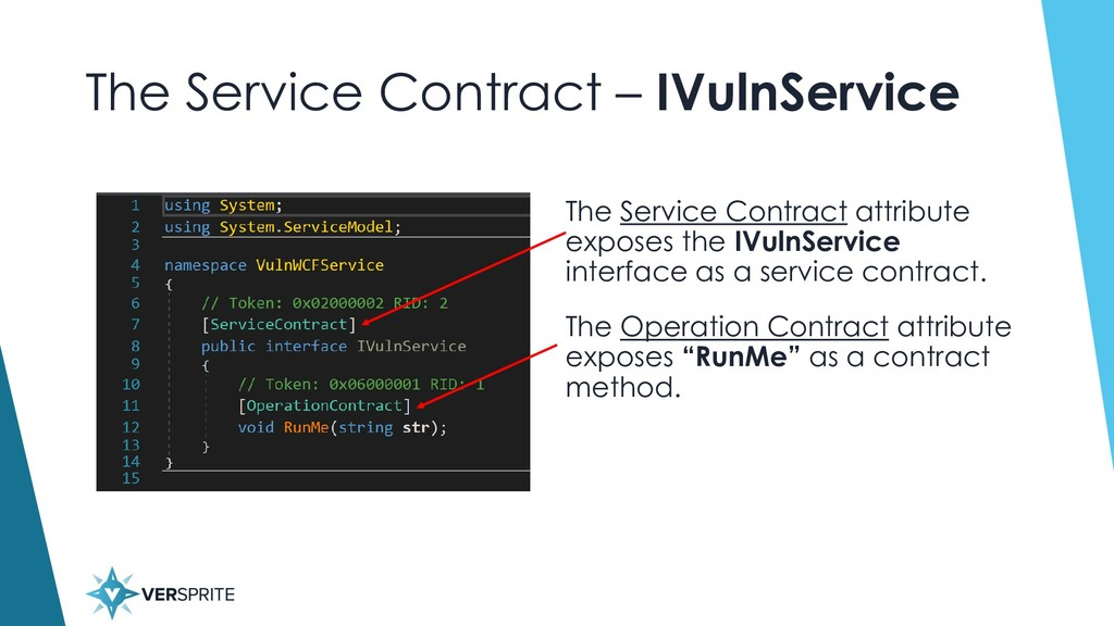 The Service Contract – IVulnService The Service...