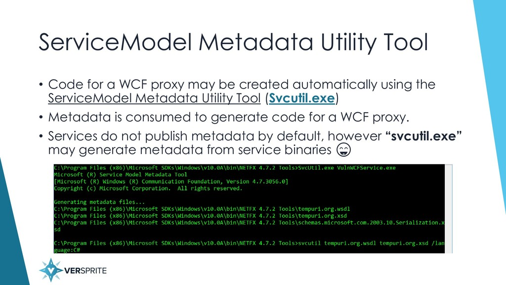ServiceModel Metadata Utility Tool • Code for a...