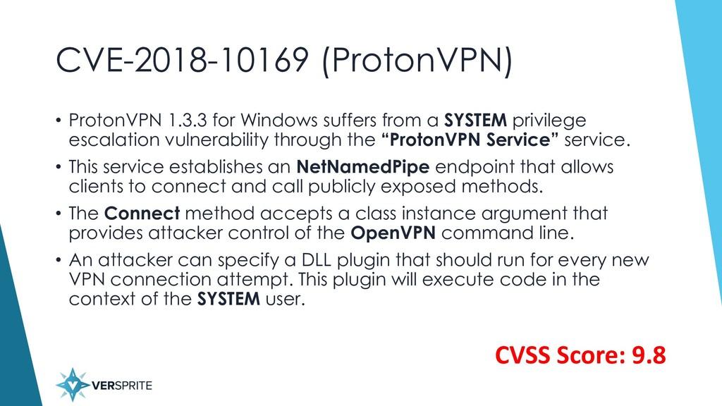 CVE-2018-10169 (ProtonVPN) • ProtonVPN 1.3.3 fo...