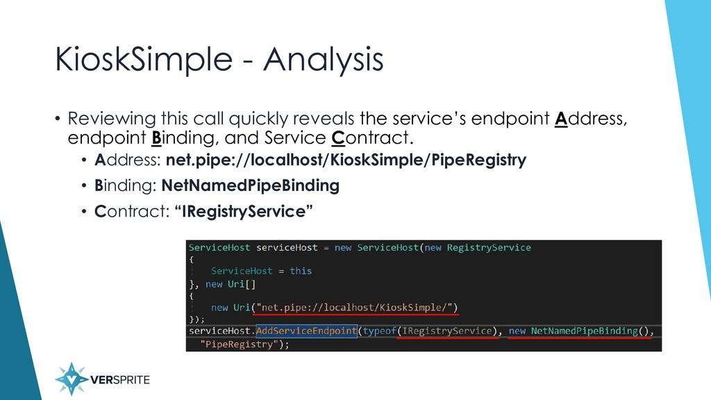 KioskSimple - Analysis • Reviewing this call qu...