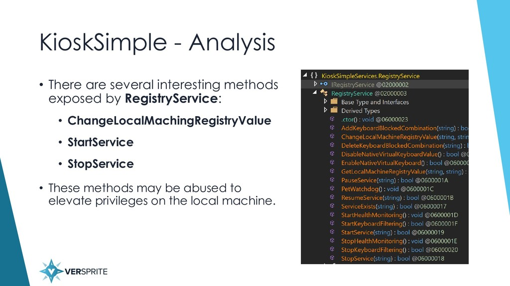 KioskSimple - Analysis • There are several inte...
