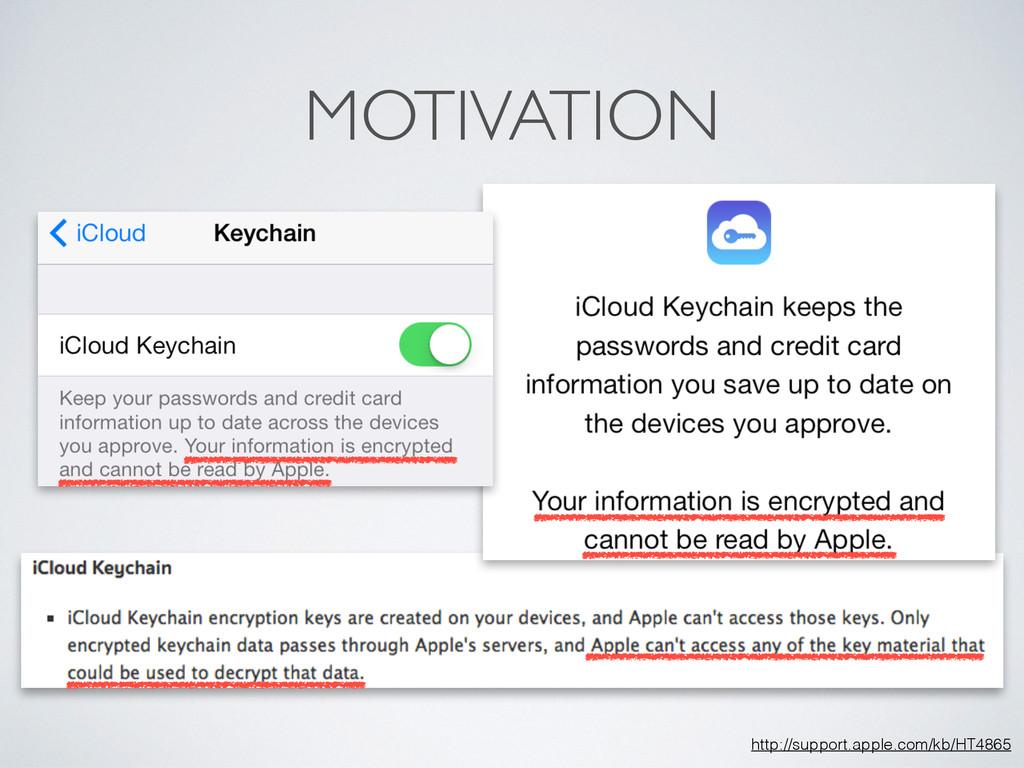 MOTIVATION http://support.apple.com/kb/HT4865
