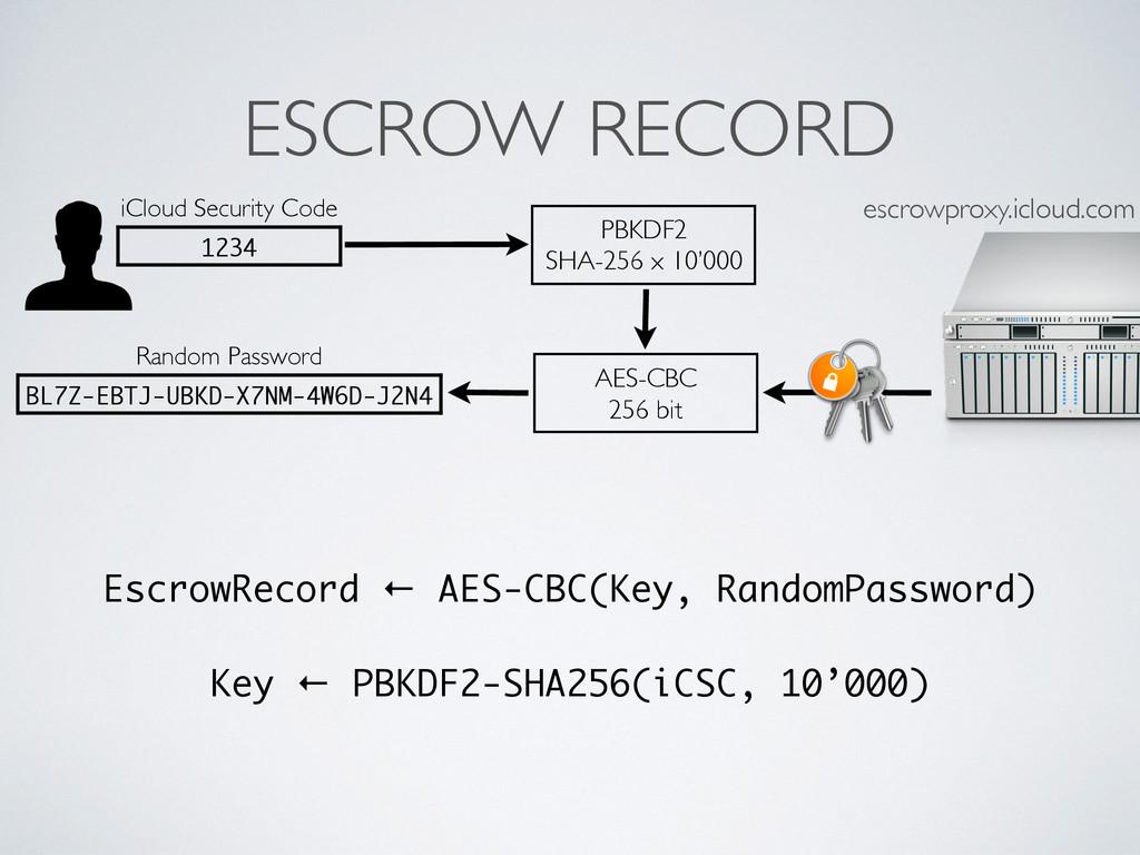 ESCROW RECORD Random Password BL7Z-EBTJ-UBKD-X7...