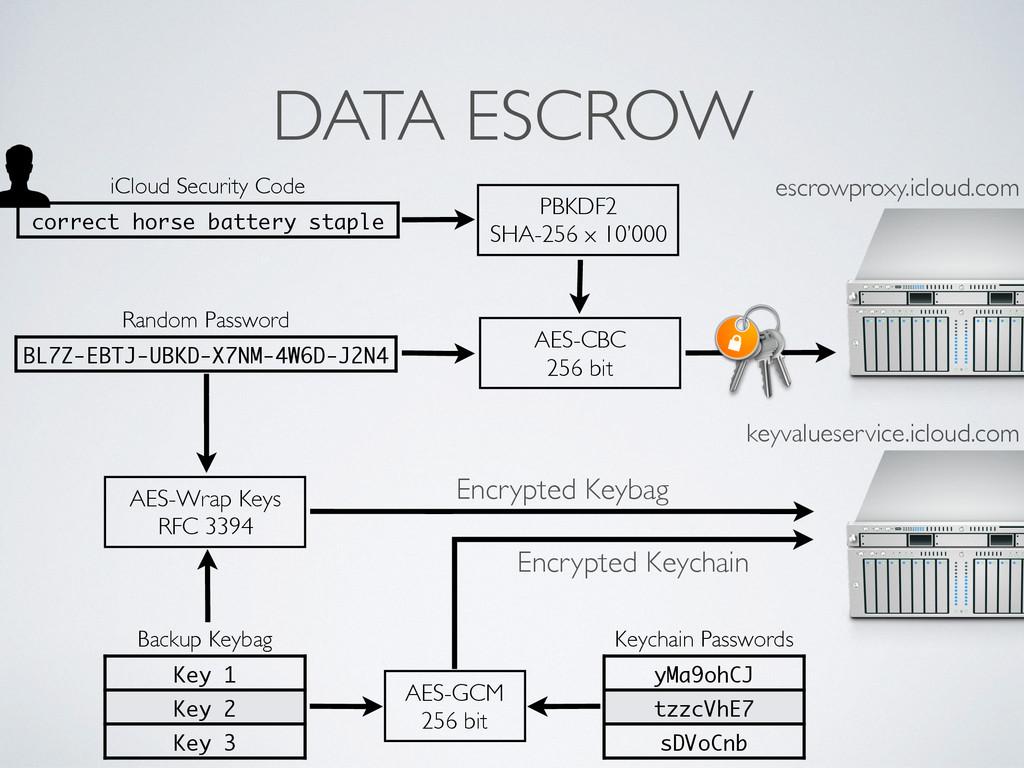 DATA ESCROW Random Password BL7Z-EBTJ-UBKD-X7NM...