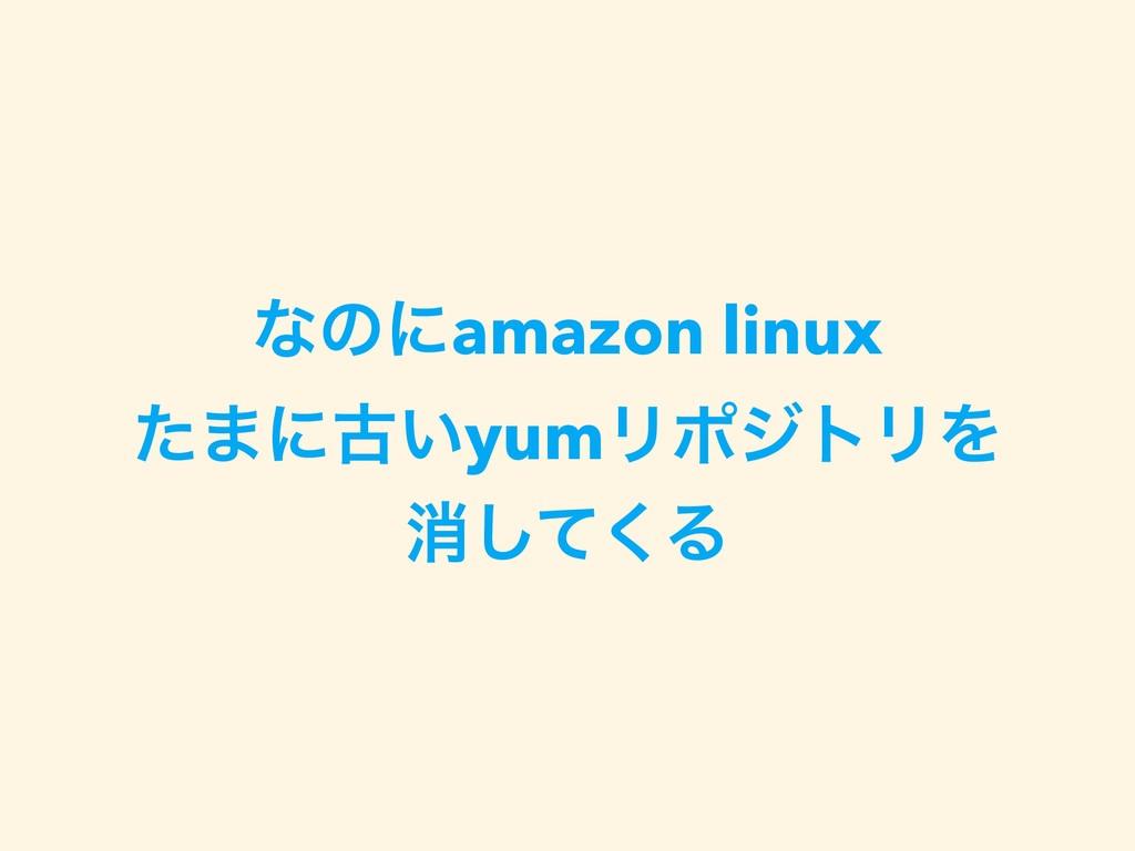 ͳͷʹamazon linux ͨ·ʹݹ͍yumϦϙδτϦΛ ফͯ͘͠Δ