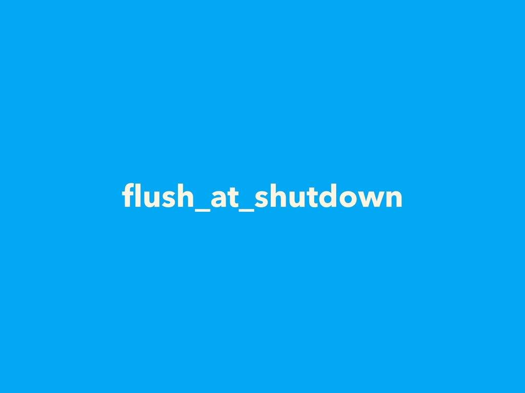flush_at_shutdown