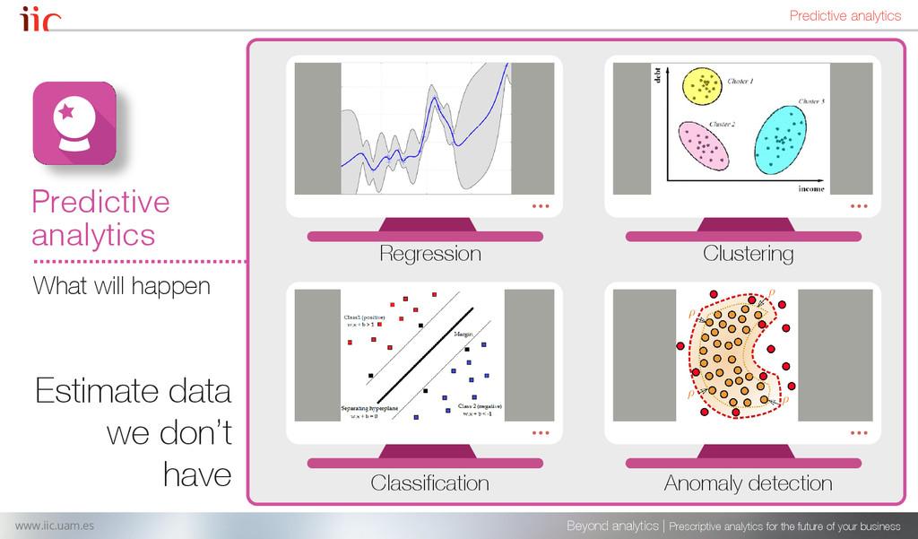 Estimate data we don't have Beyond analytics | ...