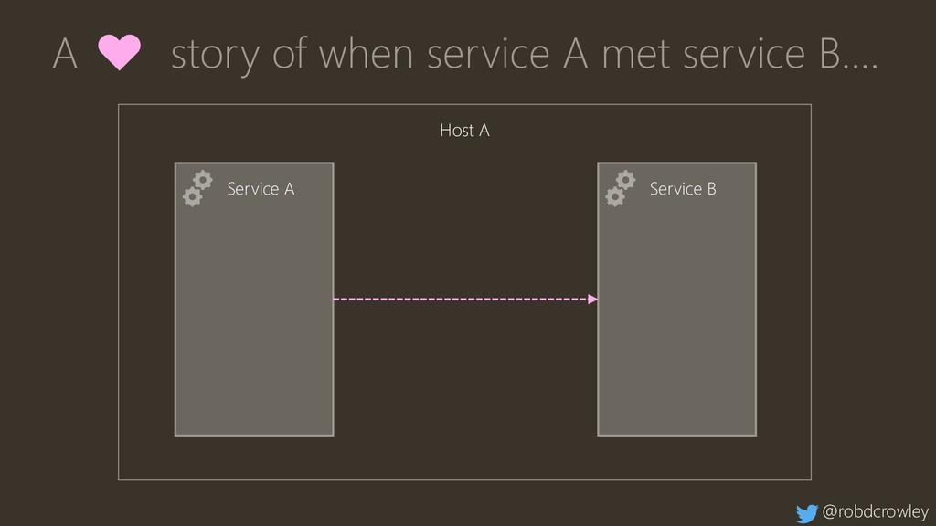 Service A Service B A ♥ story of when service A...