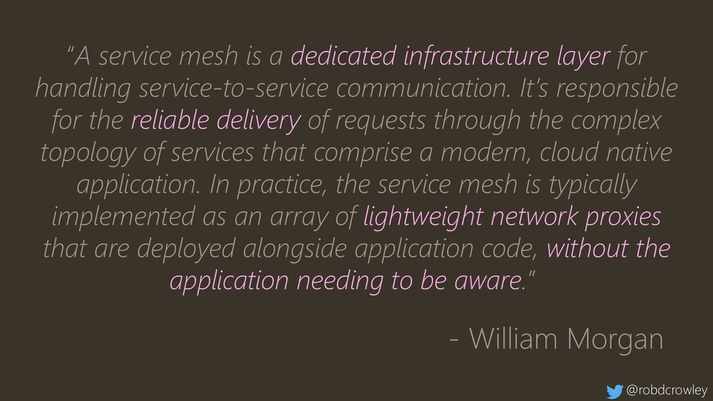 """""""A service mesh is a dedicated infrastructure l..."""