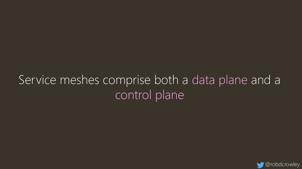 Service meshes comprise both a data plane and a...