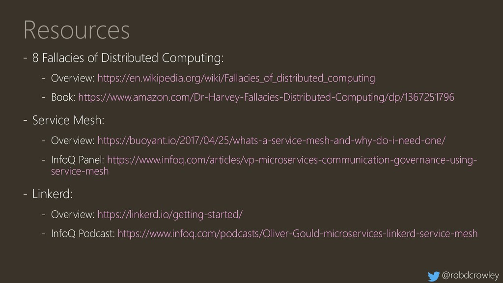 Resources - 8 Fallacies of Distributed Computin...
