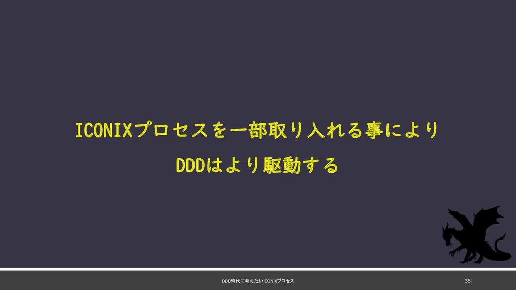 DDD時代に考えたいICONIXプロセス 35 ICONIXプロセスを一部取り入れる事により ...