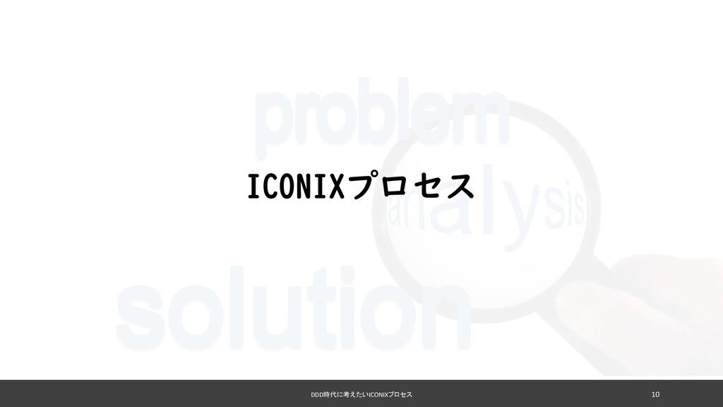 DDD時代に考えたいICONIXプロセス 10 ICONIXプロセス