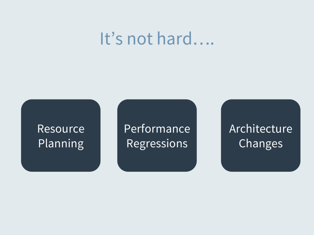 It's not hard…. Resource Planning Performance R...