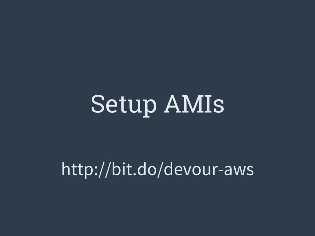 Setup AMIs http://bit.do/devour-aws