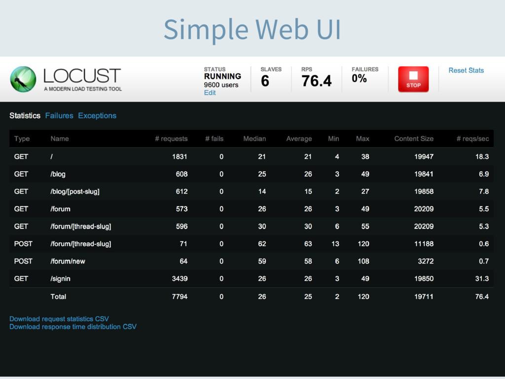 Simple Web UI