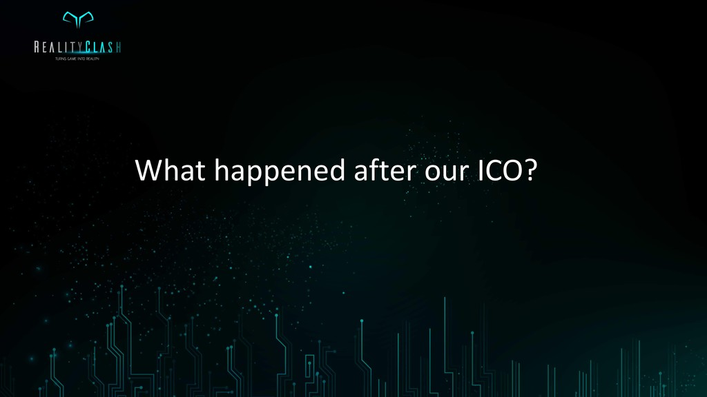What happened after our ICO?