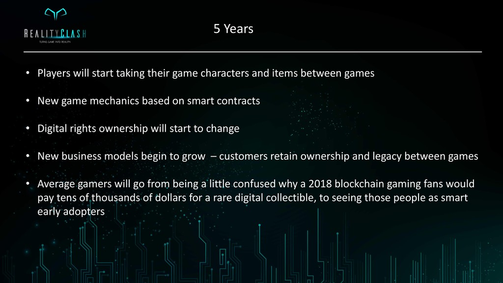 5 Years • Players will start taking their game ...