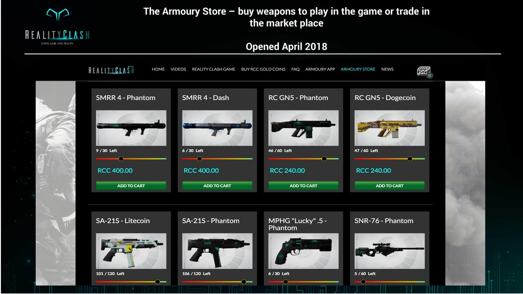 The Armoury Store – buy weapons to play in the ...