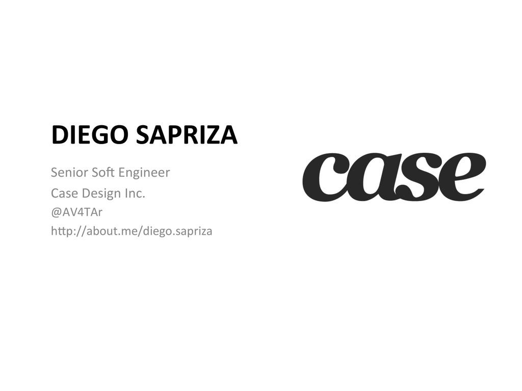 DIEGO SAPRIZA  Senior SoB Engineer...
