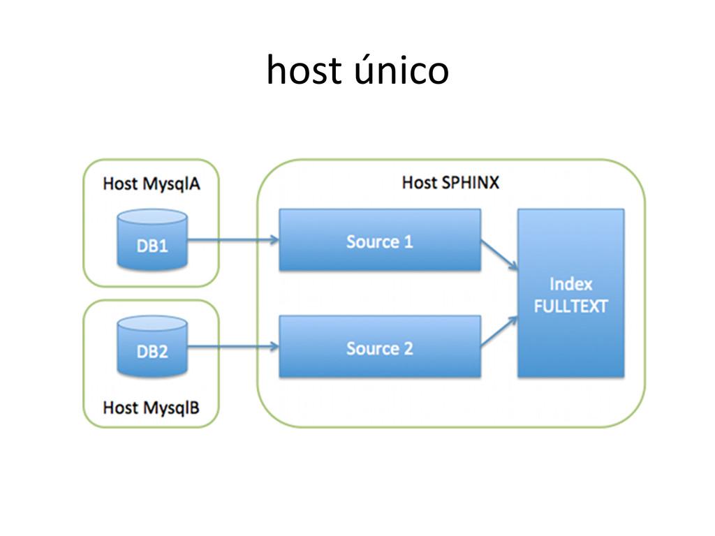 host único