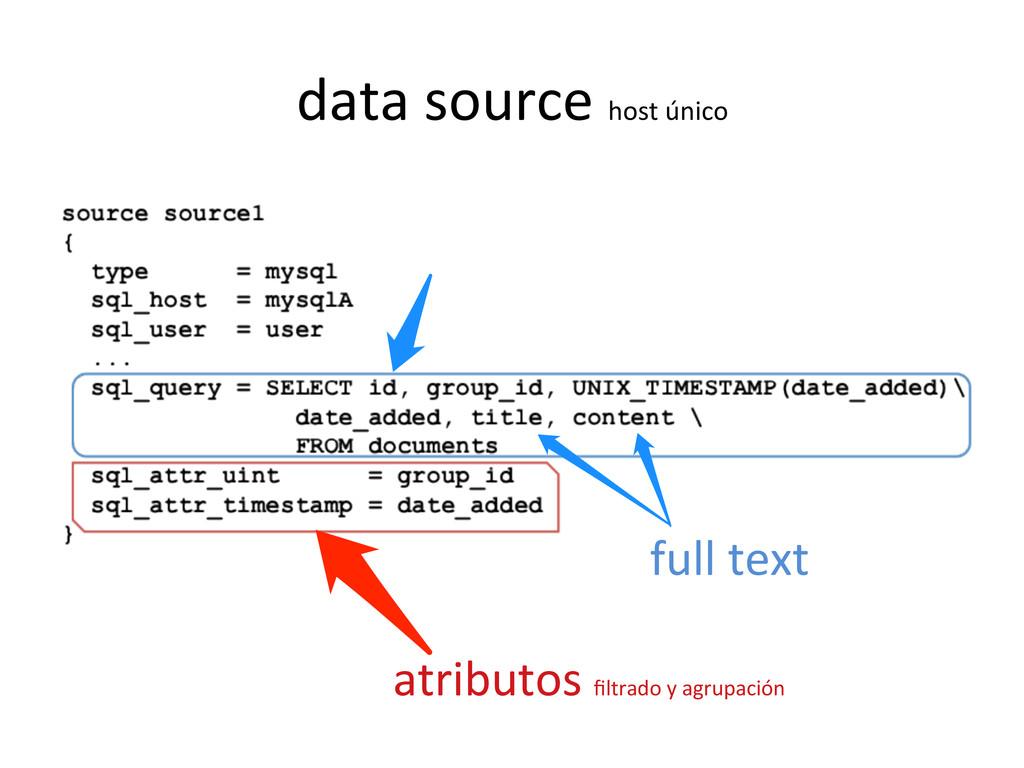 data source host único   atributos...