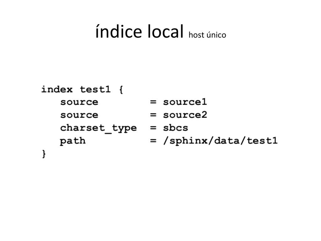 índice local host único