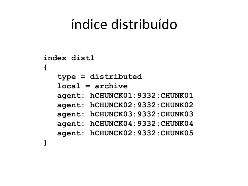 índice distribuído
