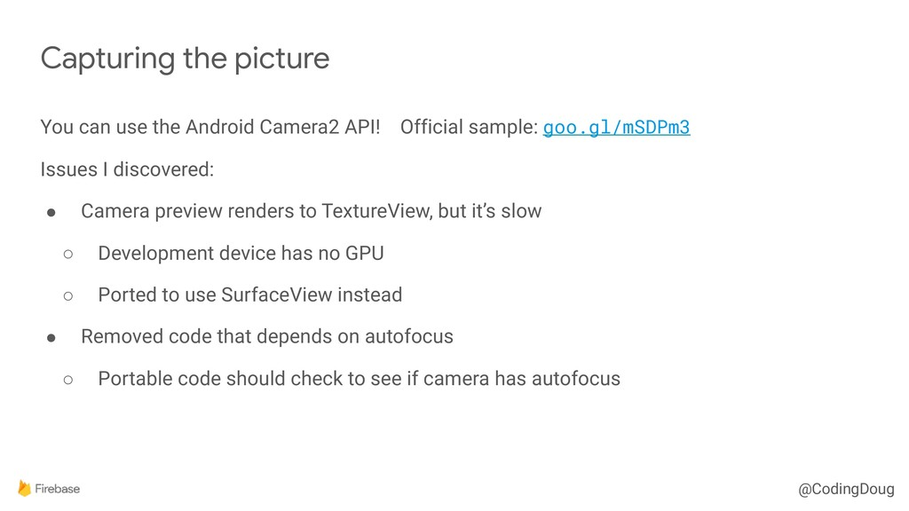 @CodingDoug You can use the Android Camera2 API...