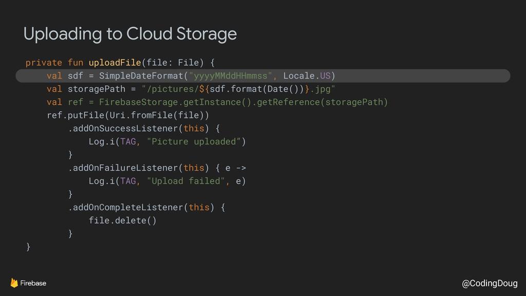 @CodingDoug Uploading to Cloud Storage private ...
