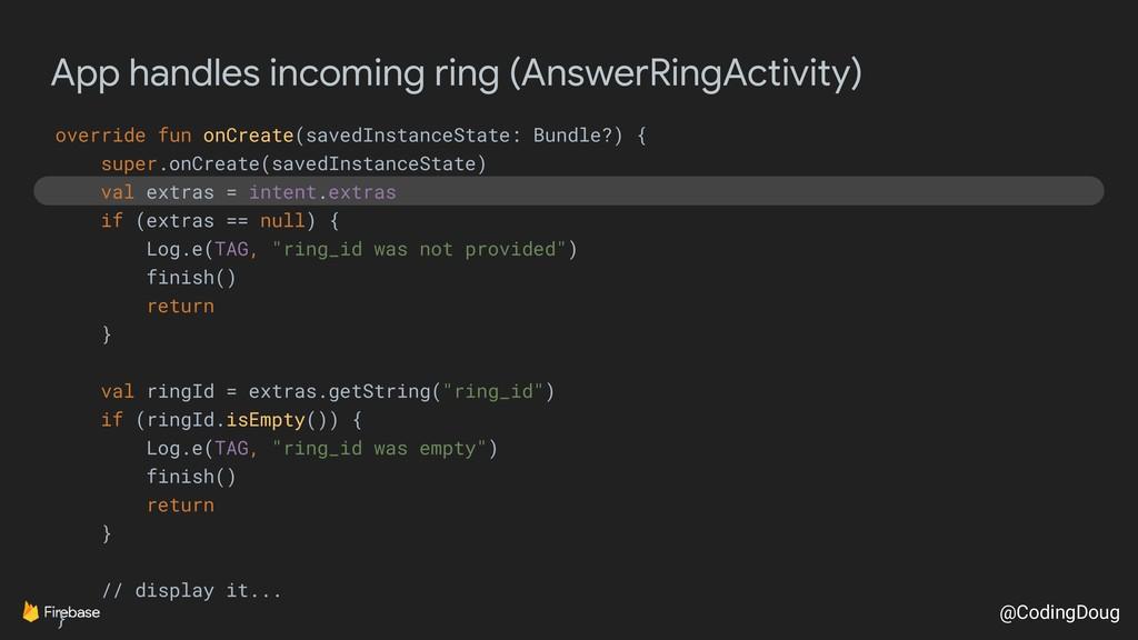 @CodingDoug App handles incoming ring (AnswerRi...