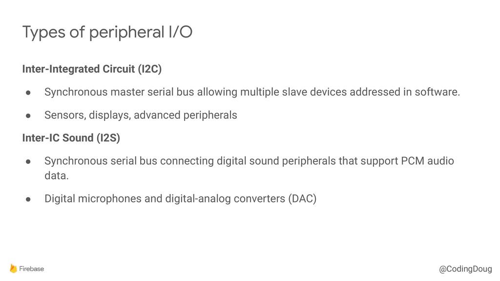 @CodingDoug Inter-Integrated Circuit (I2C) ● Sy...