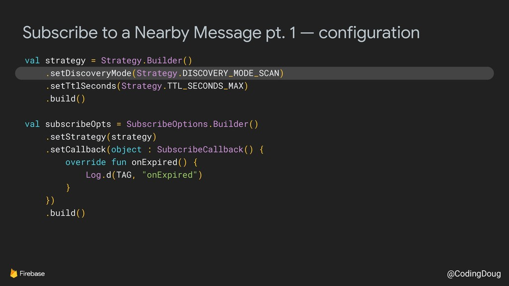 @CodingDoug Subscribe to a Nearby Message pt. 1...