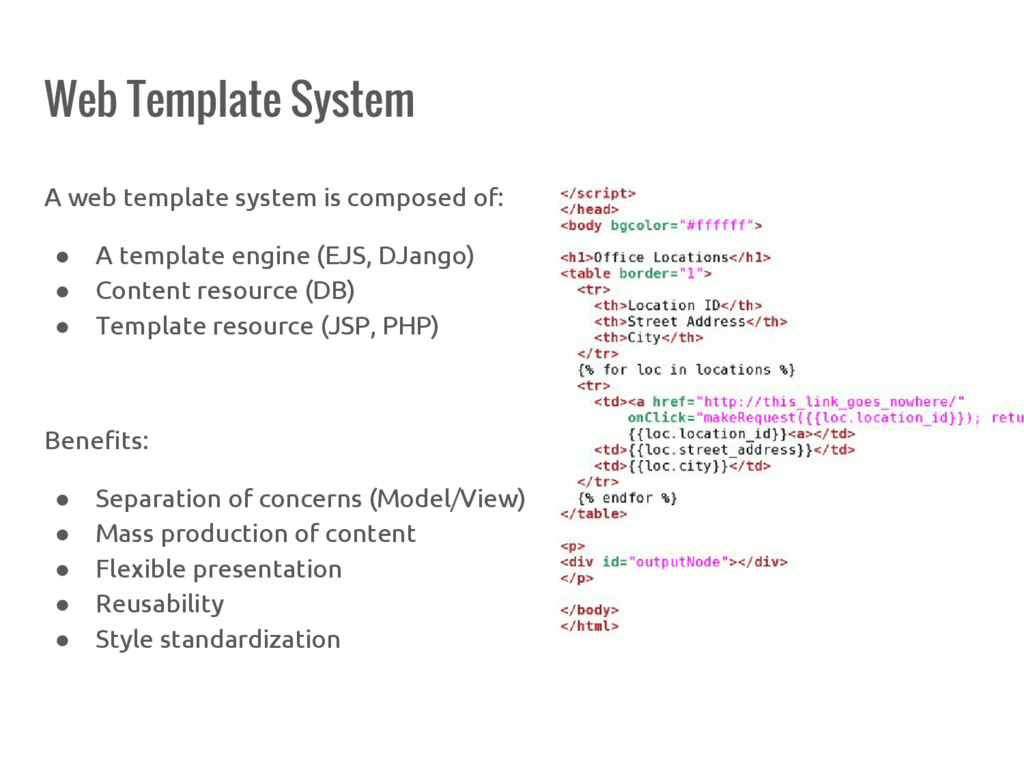 Web Template System A web template system is co...