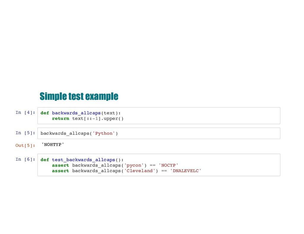 Simple test example Simple test example In [4]:...