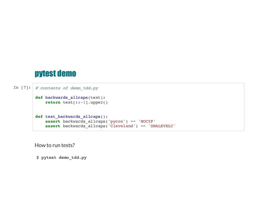 pytest demo pytest demo In [7]: # contents of d...