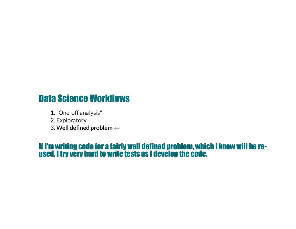 Data Science Workflows Data Science Workflows 1...