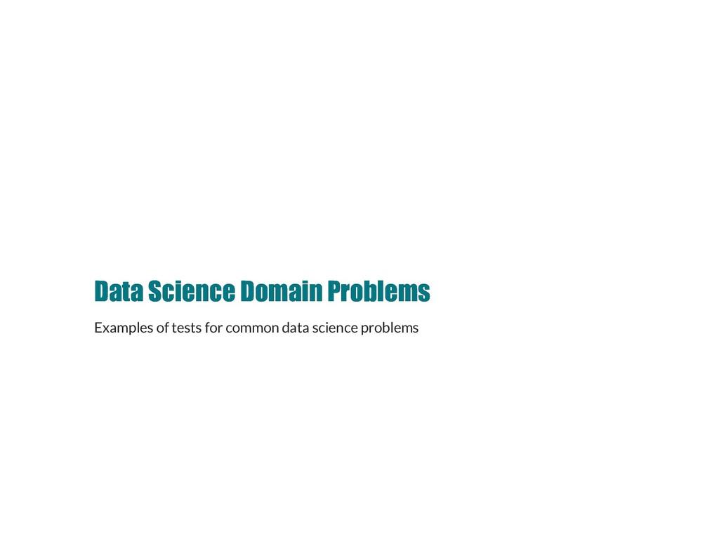 Data Science Domain Problems Data Science Domai...