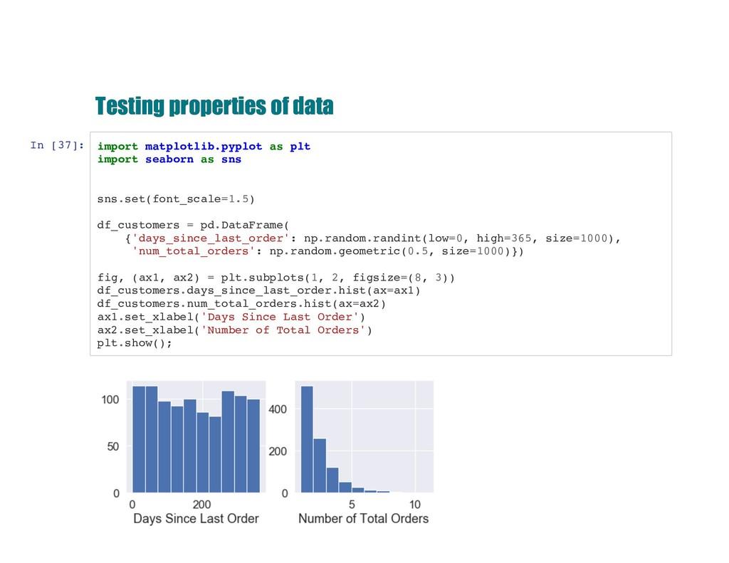 Testing properties of data Testing properties o...