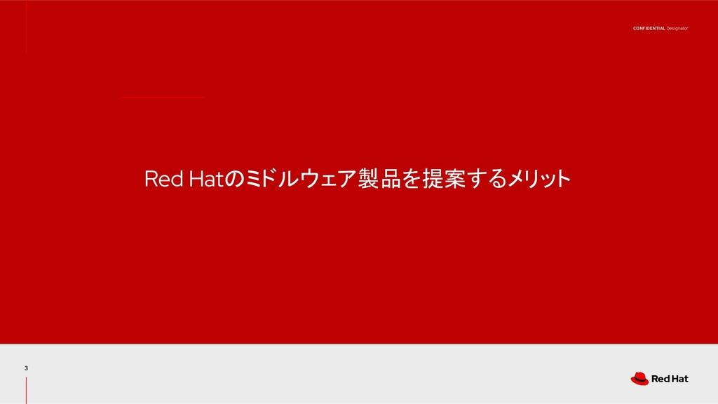CONFIDENTIAL Designator Red Hatのミドルウェア製品を提案するメリ...