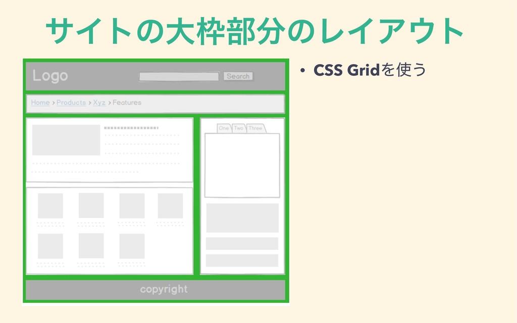 αΠτͷେ෦ͷϨΠΞτ • CSS GridΛ͏