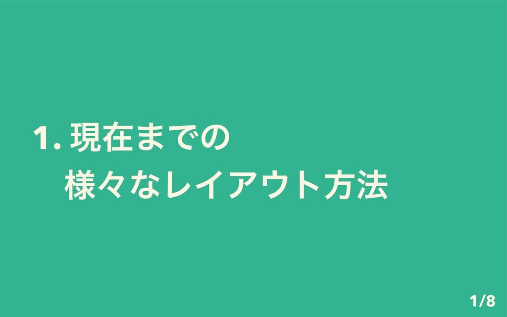 1. ݱࡏ·Ͱͷ ɹ༷ʑͳϨΠΞτํ๏ 1/8