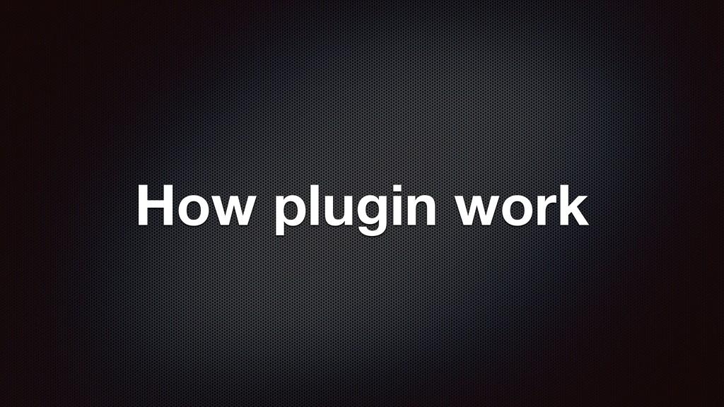 How plugin work