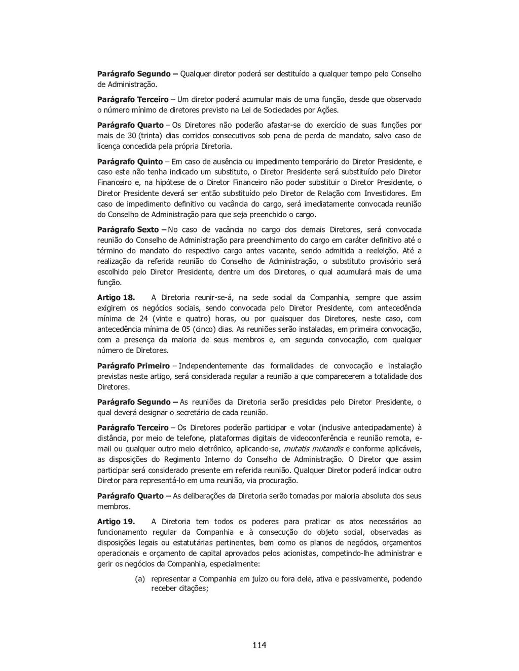 SP - 28538257v1 Parágrafo Segundo – Qualquer di...