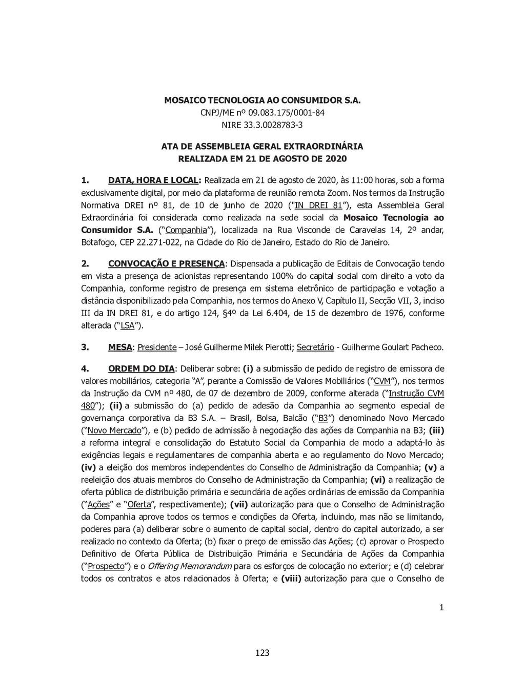 1 SP - 28518850v1 MOSAICO TECNOLOGIA AO CONSUMI...