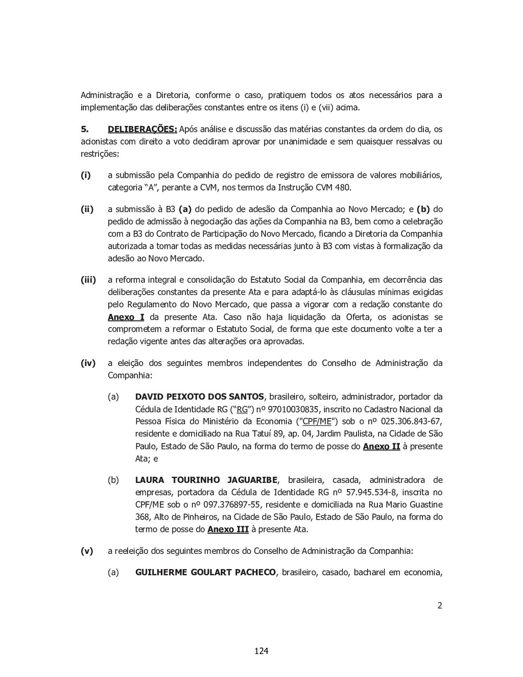 2 SP - 28518850v1 Administração e a Diretoria, ...
