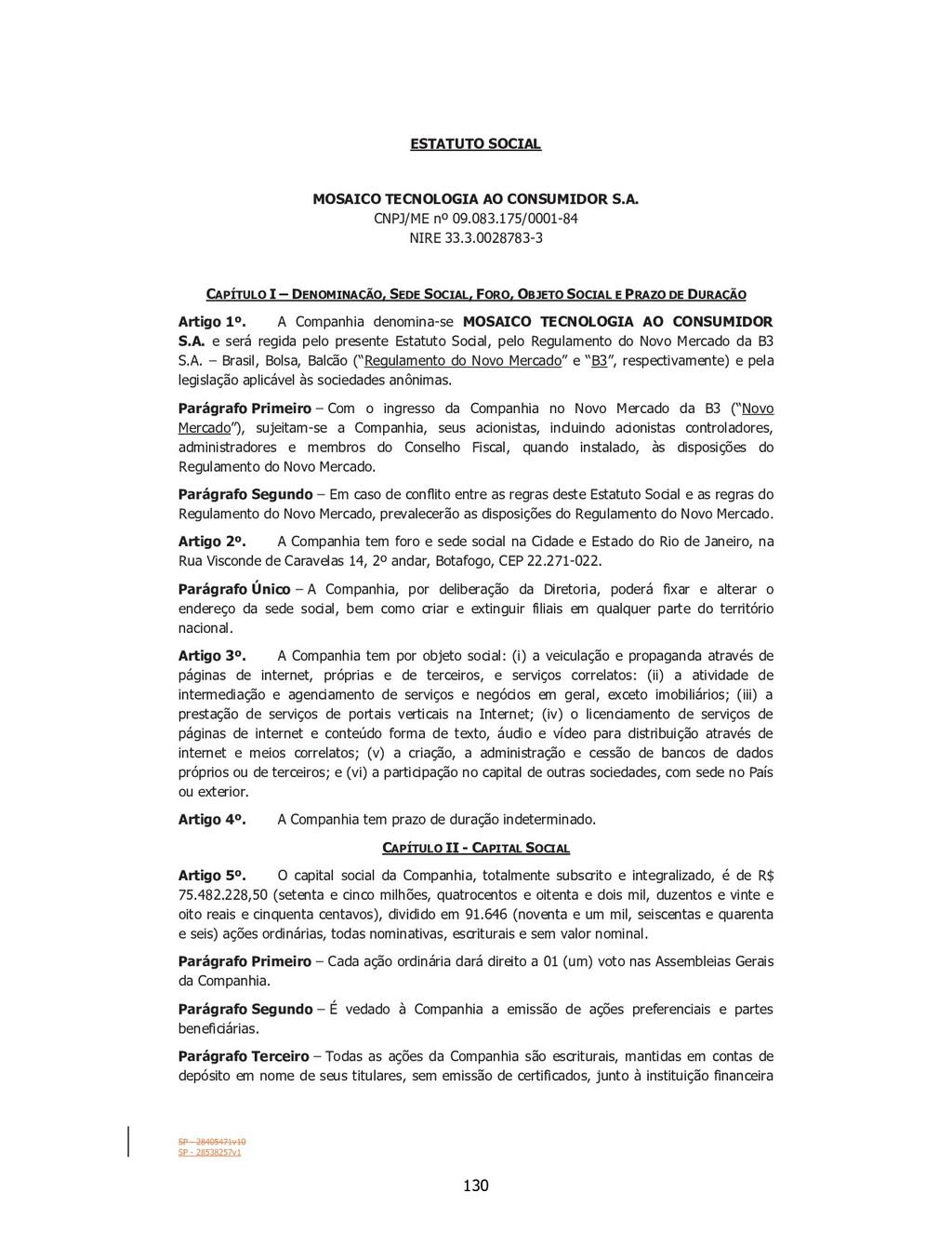 SP - 28405471v10 SP - 28538257v1 ESTATUTO SOCIA...